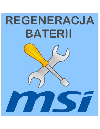 Regeneracja baterii do laptopa MSI